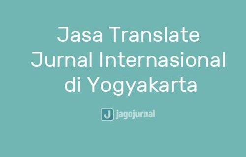 Jasa Translate Jurnal Internasional Yogyakarta