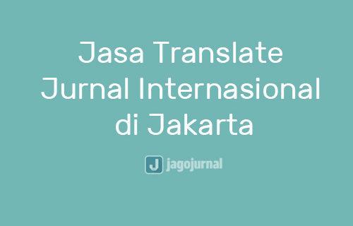 Jasa Translate Jurnal Internasional di Jakarta Online Pengalaman Terpercaya