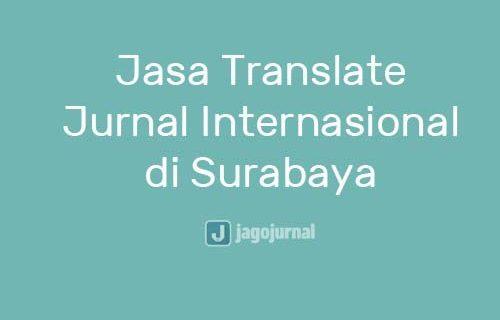 Jasa Translate Jurnal Internasional di Surabaya